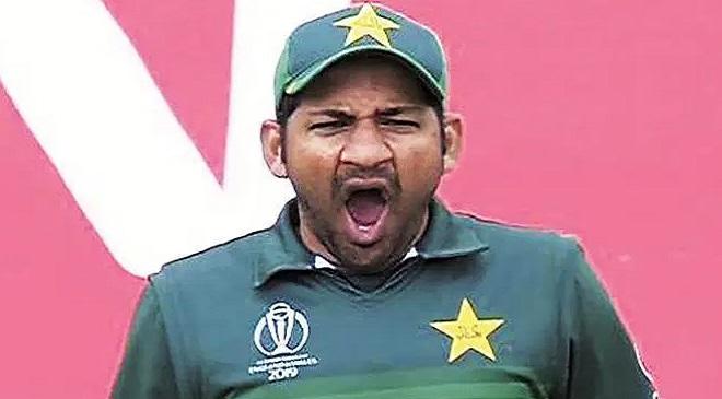 Sarfaraj Ahmed pakistan yawning InMarathi