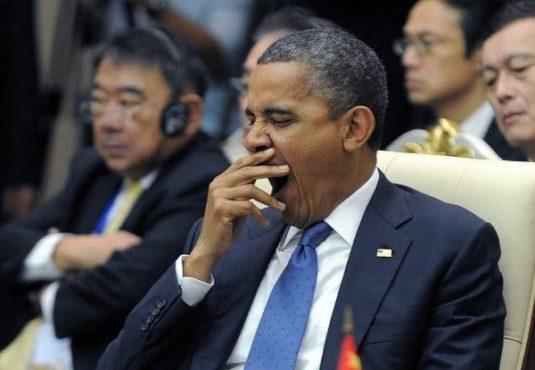 obama yawning inmarathi