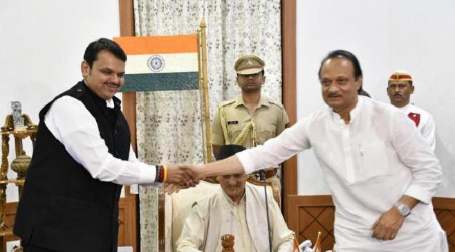 NCP and BJP InMarathi
