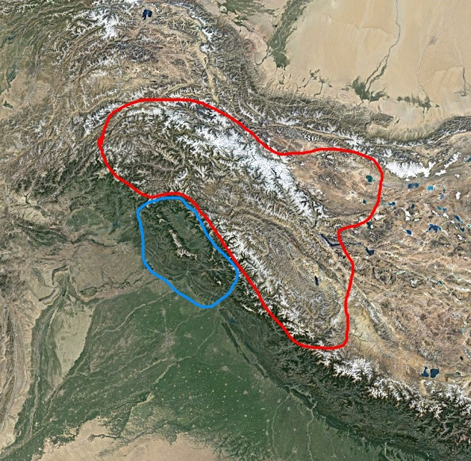 ladakh jammu geographic boundary inmarathi