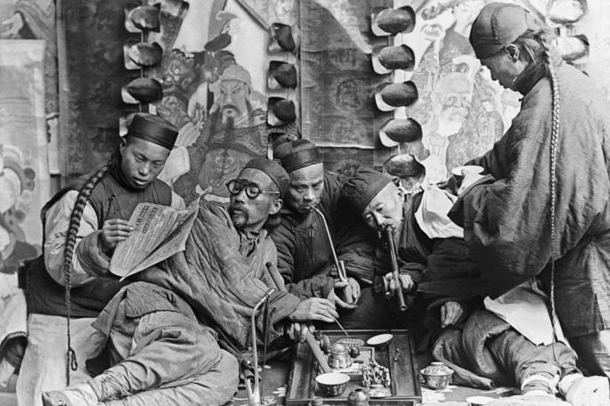 Chinese Opimum addicts Inmarathi