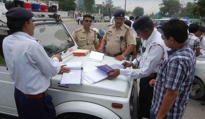 indian police challan inmarathi