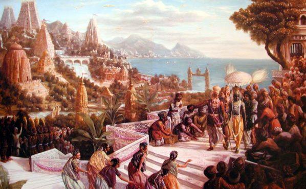 krsna-enters-dvaraka-InMarathi