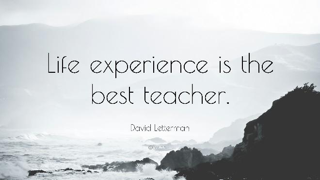 life is the best teacher inmarathi
