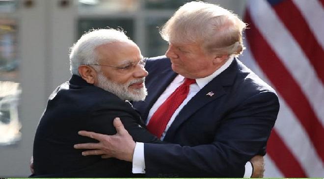 modi and trump inmarathi
