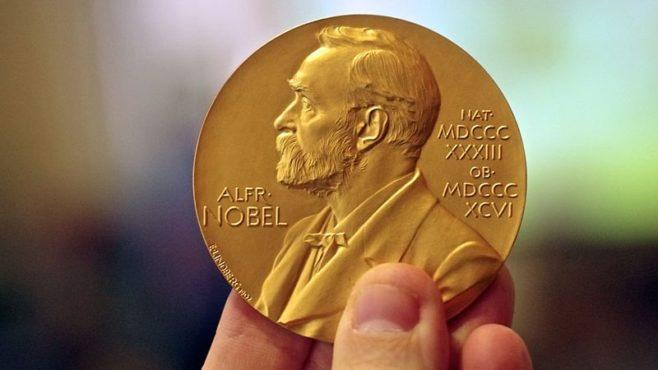 noble prize medal inmarathi
