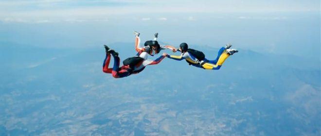 sky diving inmarathi