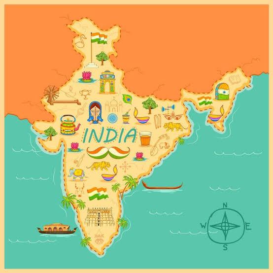 India map 1 inmarathi