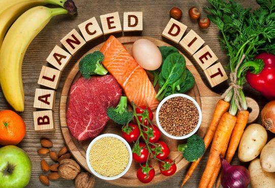 balanced diet inmarathi