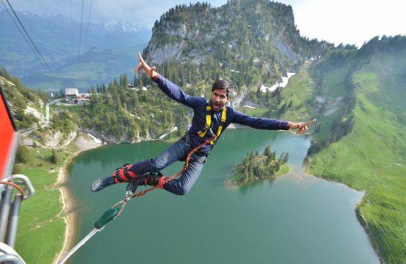 bunjee jumping inmarathi