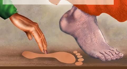 saibaba footprint inmarathi