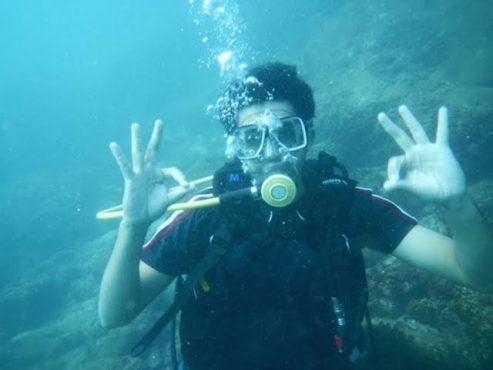 scooba diving inmarathi