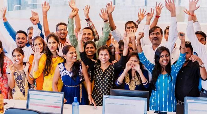 Happy Employees InMarathi