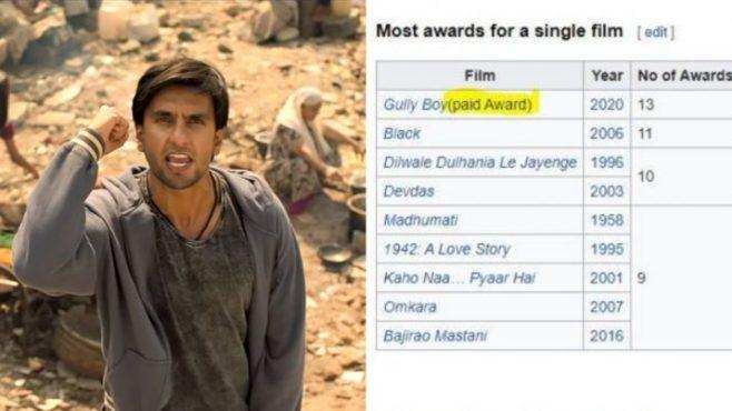 gully boy awards inmarathi
