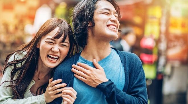 happy japani people inmarathi