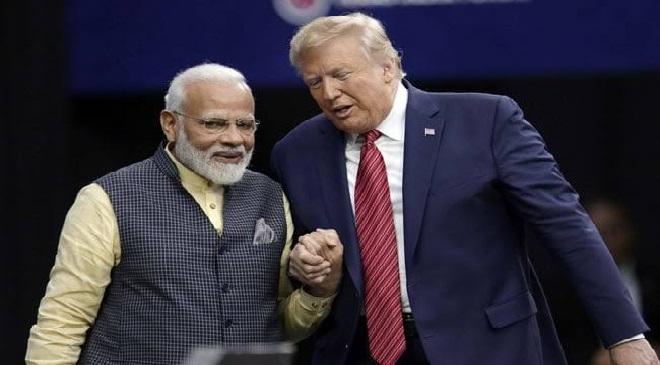 modi trump meet inmarathi