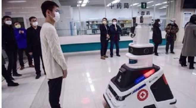 corona robot inmarathi