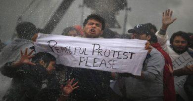 peaceful protest inmarathi