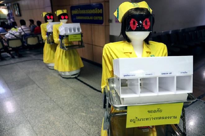 robot at hospitals inmarathi