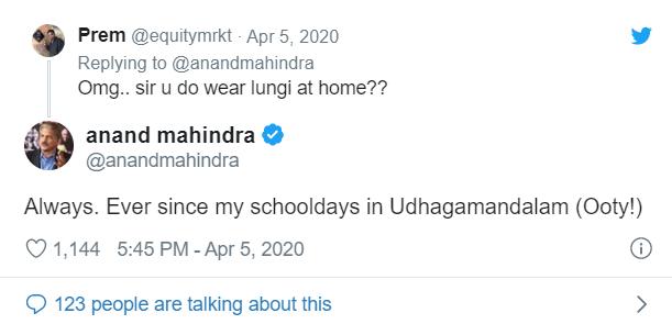 anand mahindra reply inmarathi