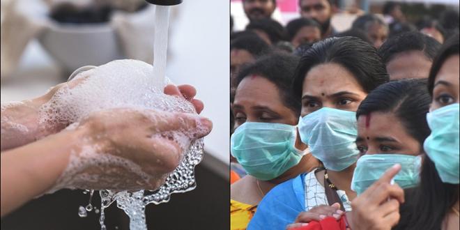 hand wash and mask inmarathi