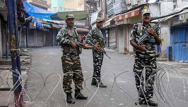 kashmir curfew inmarathi