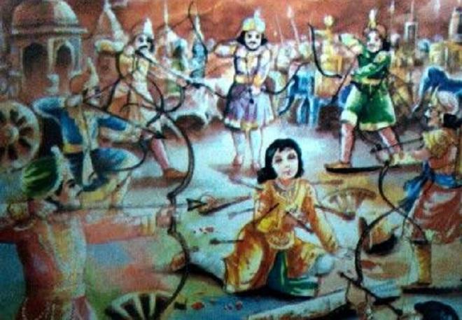 abhimanyu vadh inmarathi