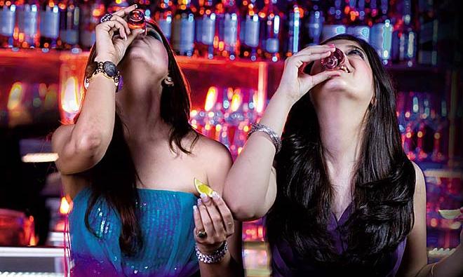 girls drinking inmarathi