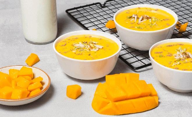 mango custerd inmarathi