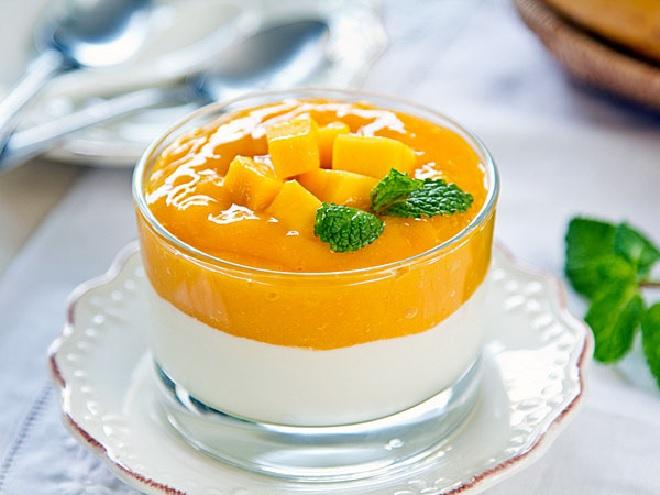 mango pudding inmarathi
