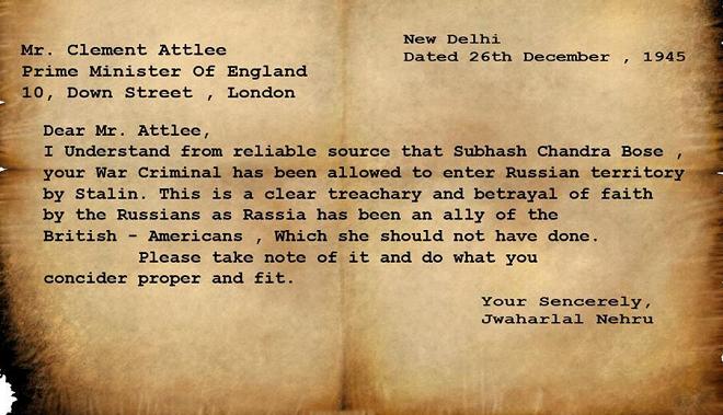 nehru letter inmarathi