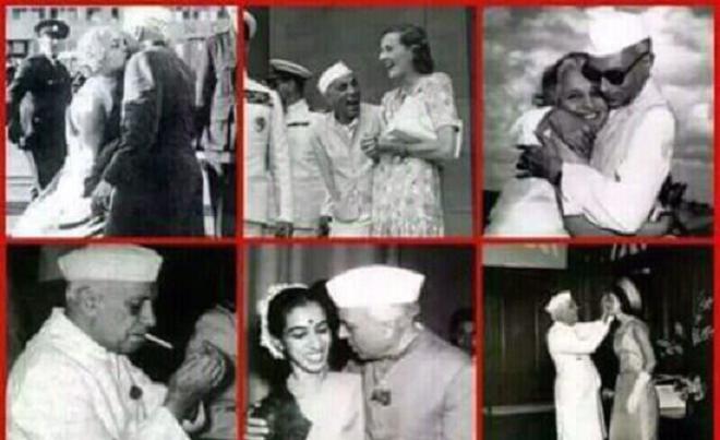 nehru with sisters inmarathi