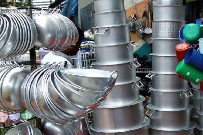 aluminium utensils inmarathi