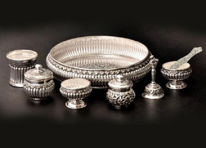 silver utensils inmarathi