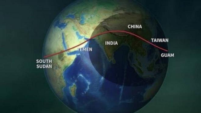 solar eclipse route inmarathi