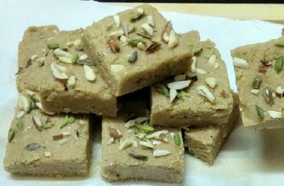 wheat barfi inmarathi
