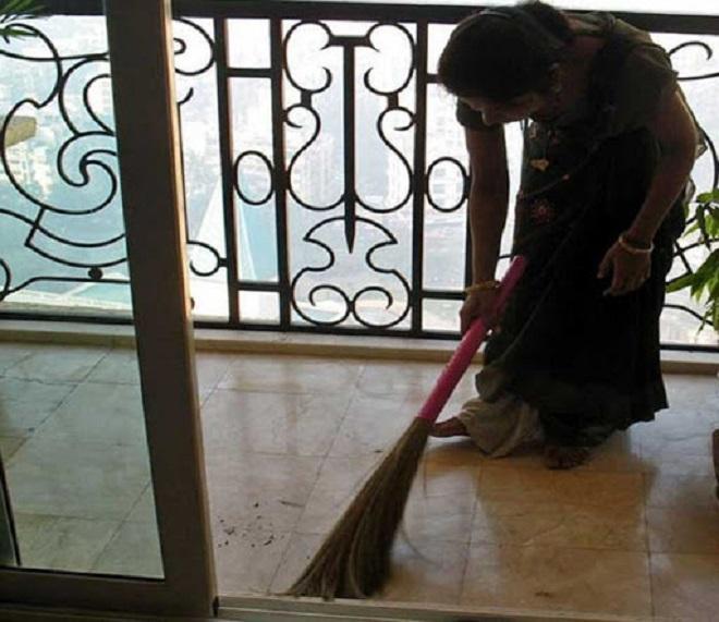 Sweeping after Dark InMarathi