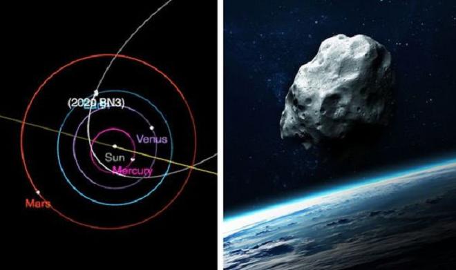 asteroids size inmarathi
