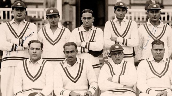 first indian test match inmarathi