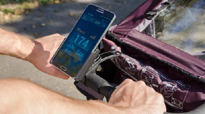 mobile phone on stroller inmarathi