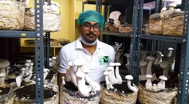 mushroom farming inmarathi