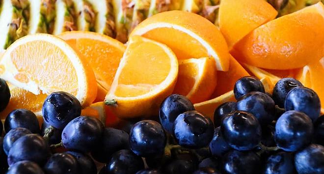 oranges & grapes inmarathi
