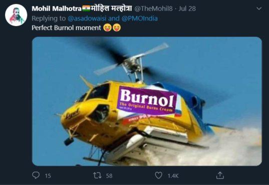 owaisi troll tweet inmarathi