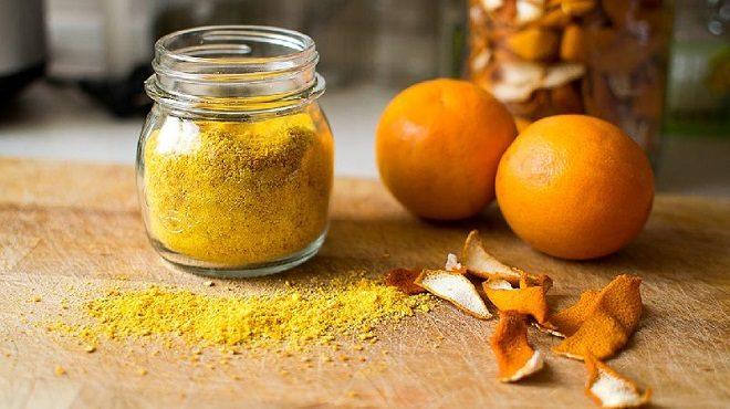 orange peel powder inmarathi