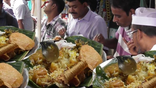 Hungry Men eating InMarathi