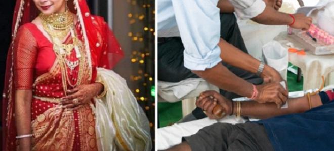 bride blood donation inmarathi