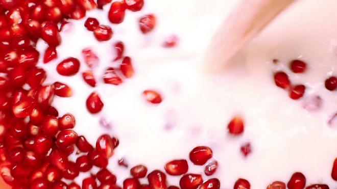 pomegranate & milk inmarathi