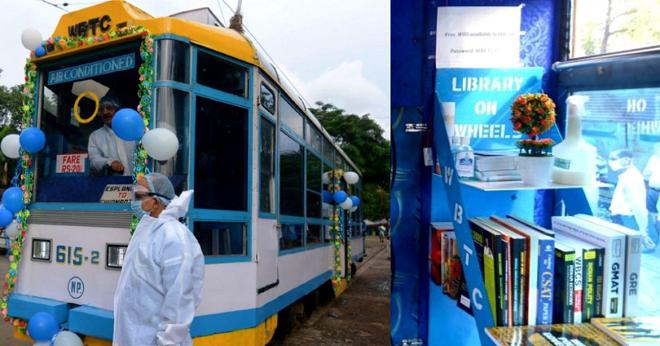 reading in tram inmarathi