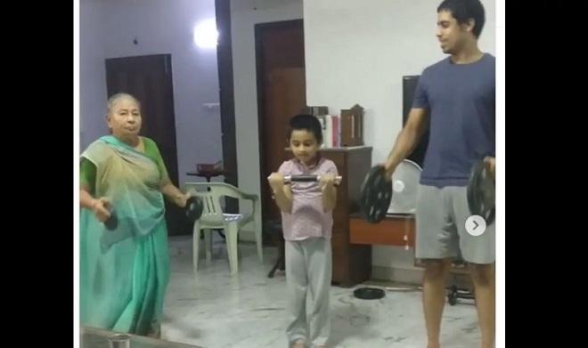 chennai grandmother exercise inmarath