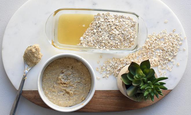 oatmeal scrub inmarathi